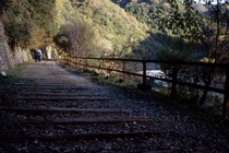 This is an abandoned railway now it is a popular walking route for people enjoying relaxed air  by Pen and Vogue
