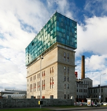 This is an office building in Estonia Renovated on top of a limestone building from the early s by KOKO Architects