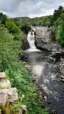 This is England High Force waterfalls in Co Durham UK