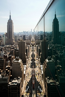 This is how NYC looks from the side of a skyscraper