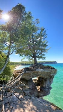 This is Michigan in the summer Pictured Rocks National Lakeshore - Chapel Rock and Chapel Beach