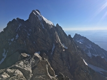 This is my view from top of the Middle Teton literally right now