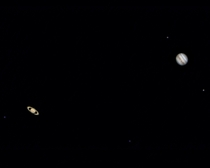 This is not a composite - Saturn and Jupiter were so close that I fit them both on my  sensor chip