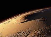 This is Olympus Mons on Mars it is x the size of Mount Everest