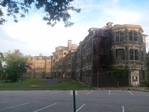 This is one of many closed down asylums outside of Baltimore Maryland I love these old buildings Based on the age of all the other buildings on this asylums campus tbis one is by far the oldest and main building they used The building probably has quite a