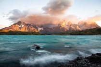 This is one of the amazing sunrises that you can admire in Patagonia Torres del Paine Chile  Instagram micomicky