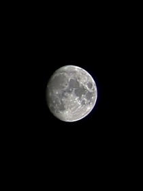This is the first picture Ive ever taken of the moon It doesnt even compare to the majority of the posts on here but Im proud of it nonetheless