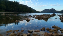 This is the lowest I have ever seen the water hereJordan Pond Acadia National Park Maine
