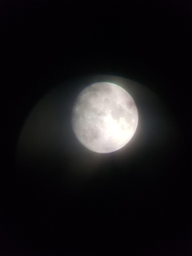 This is the moon thru my telescope but it was cloudy and I got tired of waiting for it to clear up