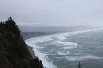 This is the Oregon coast it manages to be beautiful even on a foggy overcast day