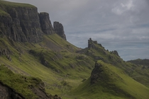 This is The Quiraing on The Isle of Skye in Scotland