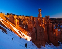 This is Thors Hammer a column in famous Bryce Canyon Utah  photo by Andr Leopold