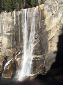 This is Vernal Fall in Yosemite California I took this picture and I thought you guys might enjoy it   taken with my iPhone