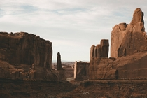 This is Wall Street in Arches National Park UT Ironically named its void of any human development or corruption