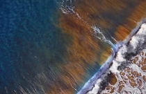 This is what a crashing wave looks like from above Manly Beach Sydney Australia xpx By Remy Gerega