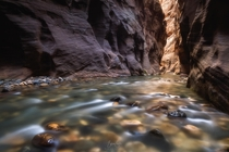 This is what it was like returning all alone in the Narrows Zion National Park Utah  bloveimages