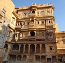 This is where generations of elite Jains lived in Thar desert Patwaon ki Haweli- Jaisalmer Rajasthan India