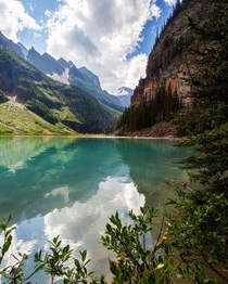 This is where Lake Louise begins from glacial outflow Alberta Canada  ignatureprofessor