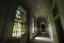 This Italian asylum had some of my favorite hallways Ive ever seen in an abandoned building