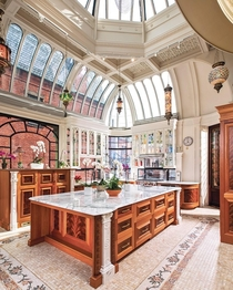 This kitchen in the Burrage Mansion built was built directly into a conservatory designed by the houses namesake Albert C Burrage - Boston Massachusetts
