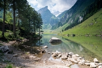 This lakes literally called LakeAlpsLake - Seealpsee Appenzell Switzerland