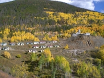 This lead and zinc mining town was abandoned in the s due to the contamination of its water Located near Leadville Colorado
