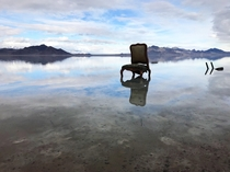 This lonely chair at Bonneville Salt Flats