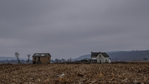This lonely farmhouse sits all by itself in Dansville New York