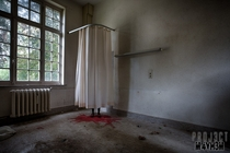 This made me jump when I came across it in a derelict psychiatric hospital