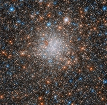 This marvelous celestial object is the globular cluster NGC  toward the center of the Large Magellanic Cloud a dwarf galaxy that hosts a rich population of star clusters