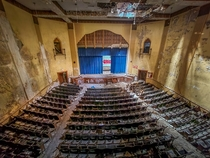 This massive abandoned middle school auditorium