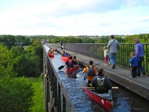 This  metres  foot wide Pontcysyllte Aqueduct in Wales is the longest aqueduct in Great Britain and the highest canal aqueduct in the world for use by narrowboats and pedestrians