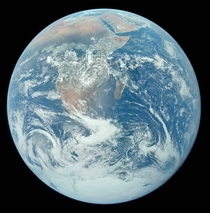 This might be the highest-res version of the famed Apollo  Blue Marble