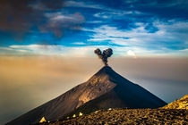 This moment when volcano sends you a heart - Volcn de Fuego Guatemala