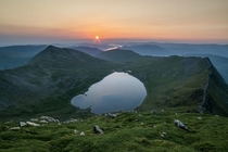 This mornings am sunrise atop Helvellyn UK