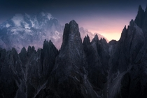 This mountain in the Dolomites looks straight out Lord of the Rings  More on Insta  aliaume_chapelle