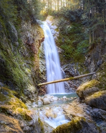 This mystical waterfall m from the parking lot Cascade Falls British Columbia