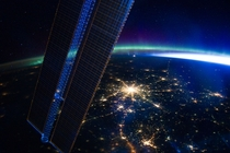 This nighttime picture of Moscow shot from the International Space Station looks like a neuron
