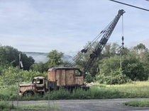 This old crane along a road in Cooperstown Junction NY