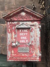 This old fire call box on an abandoned building in Holyoke MaOC