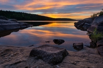This Past Weekends Sunset in Parc National de la Mauricie Qubec Canada