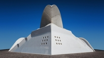 This photo of the Auditorio de Tenerife by Santiago Calatrava makes it look like a miniature model