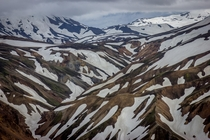 This picture looks like a painting Landmannalaugar Iceland