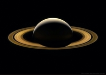 This picture of Saturn was captured by The Cassini Spacecraft exactly  years ago today