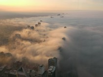 This picture was taken on top of the John Hancock building  stories in Chicago Illinois