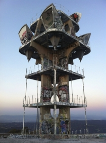 this post-apocalyptic looking relay tower  Los Angeles CA