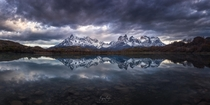 This rare windless morning in Torres del Paine Chile was incredibly epic