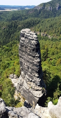 This rock formation in Bohemian Switzerland National Park Czechia