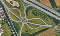 This roundabout interchange in Aschheim Germany