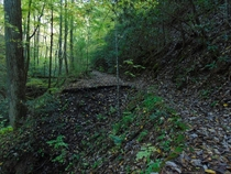 This section of Old Highway  has been abandoned for over  years after the highway was rerouted during the construction of New Highway  which shortened the drive from Tellico Plains to the mountain community of Coker Creek Coker Creek TN